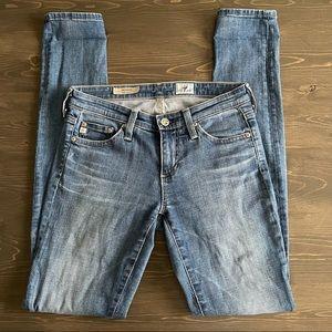 AG The Legging Super Skinny Light Wash Jeans Sz 25